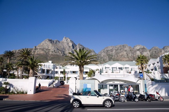 Beach front strip, Camps Bay, Cape Town, Western Cape Province