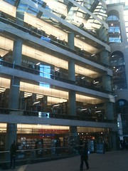 View of Library Floors from Inside the Atrium