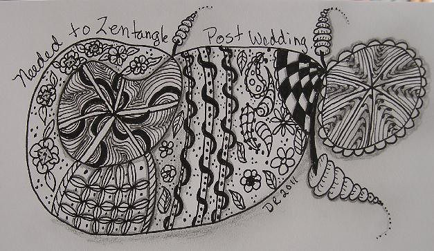 needed to zentangle post wedding my daughter got married