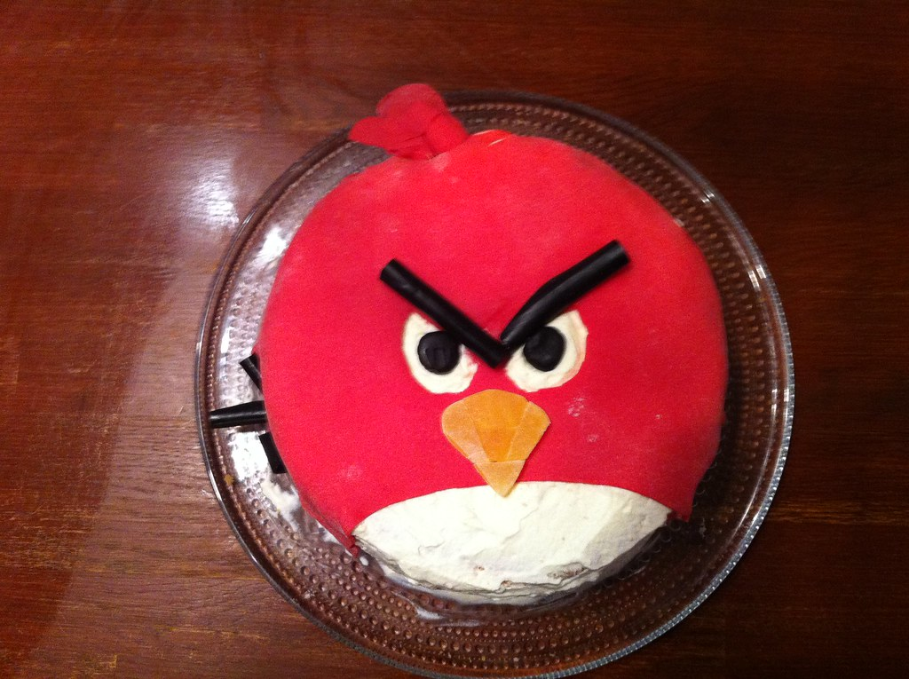 Angry Birds Birthday Cake Completed Sami Oinonen Flickr