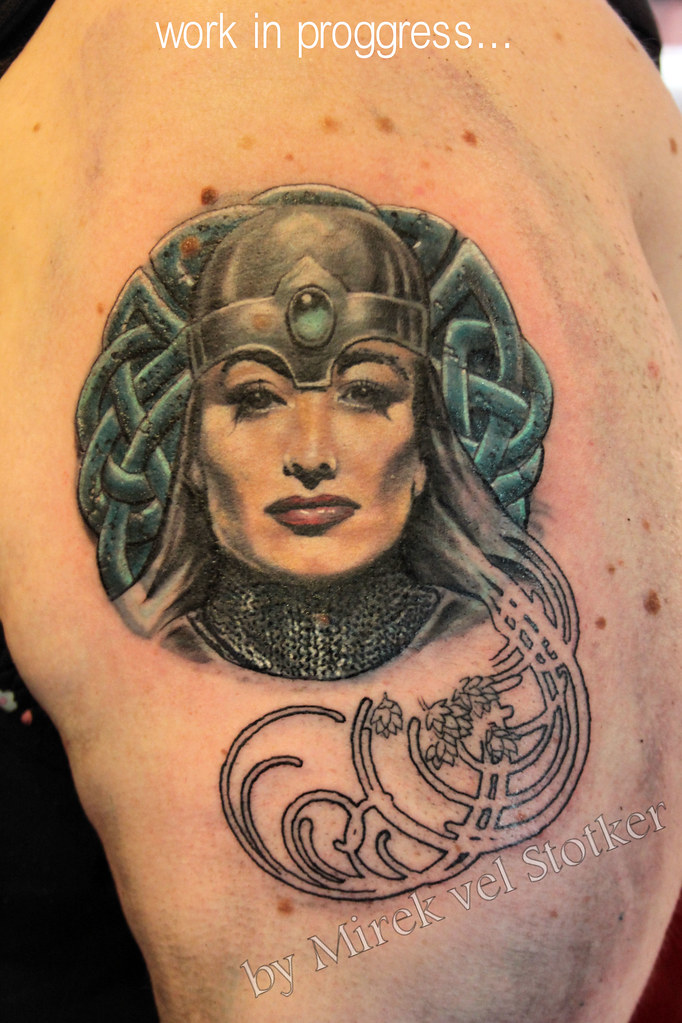 Art Deco Tattoo By Mirek Vel Stotker Stotker Flickr