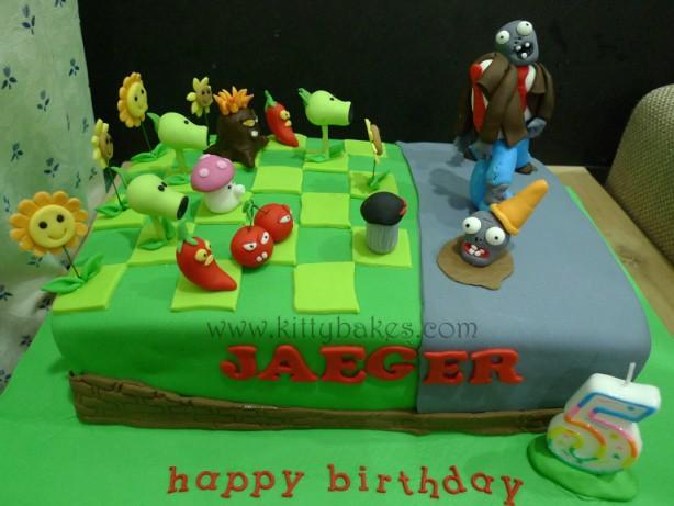 Plants Vs Zombies Garden Warfare Birthday Cake
