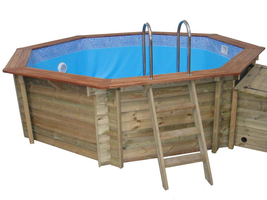 4m Plastica Wooden Pool Plastica 4m Octagonal Pool