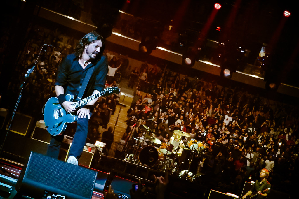 Foo fighters taking it in front man dave grohl during - Foo fighters madison square garden ...