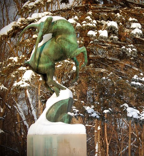 Leaping Gazelle, Greenwood Cemetary Birmingham, Michigan | by Marshall M. Fredericks Sculpture Museum