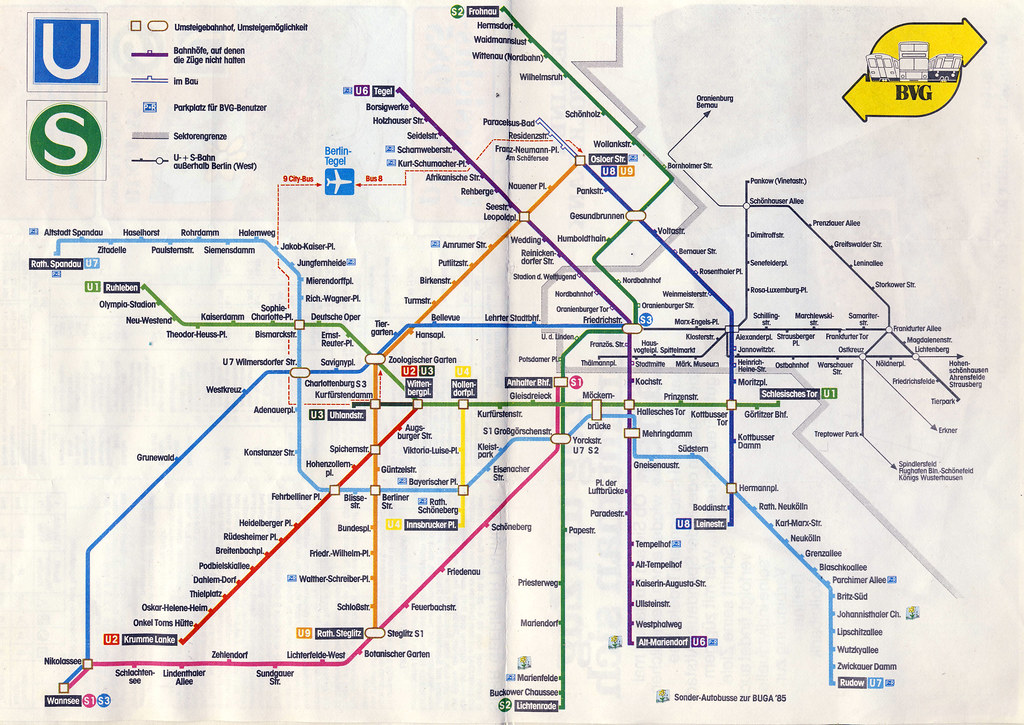Berlin Train Map From 1985 Paul3747 Flickr: Berlin Rail Map At Infoasik.co