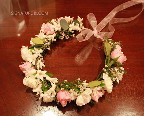 wedding floral pleasanton california  flower girl headpiec u2026