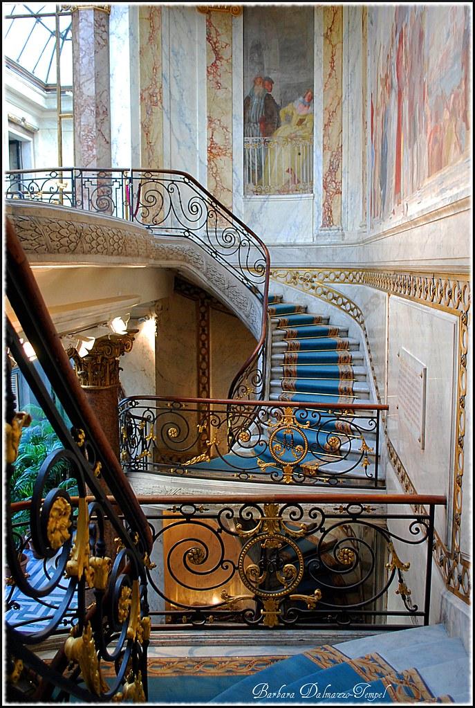 mus e jacquemart andr l 39 escalier monumental avec des fres flickr. Black Bedroom Furniture Sets. Home Design Ideas