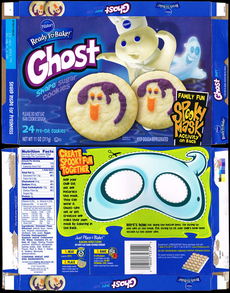 pillsbury - ready-to-bake - ghost shape sugar cookies - co… | flickr