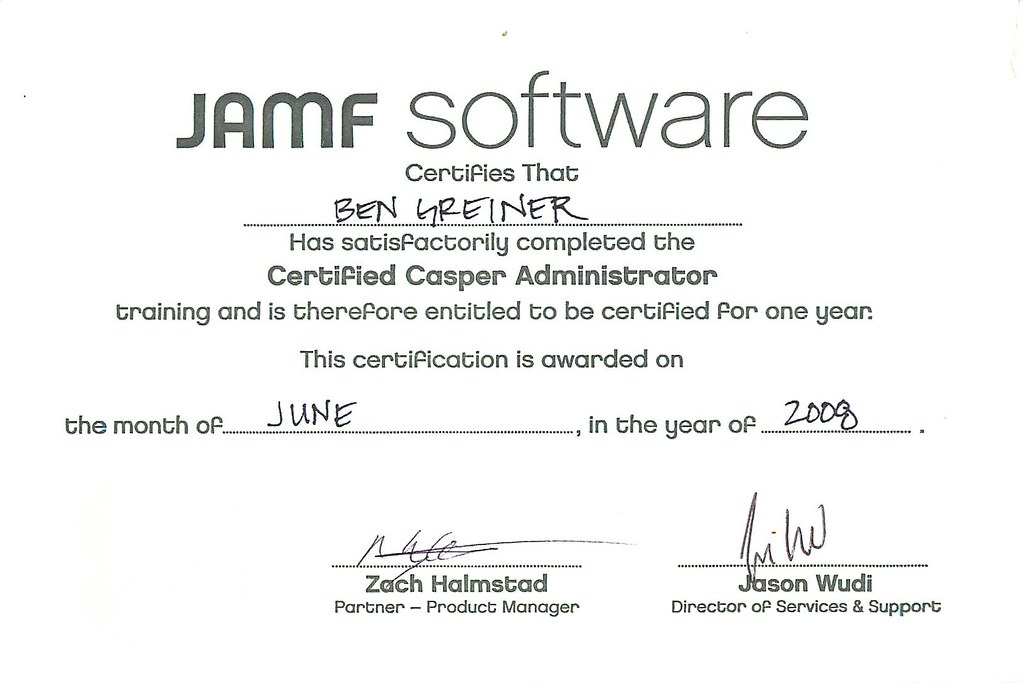 Jamf Software Cca Certified Casper Administrator Forgetcomputers