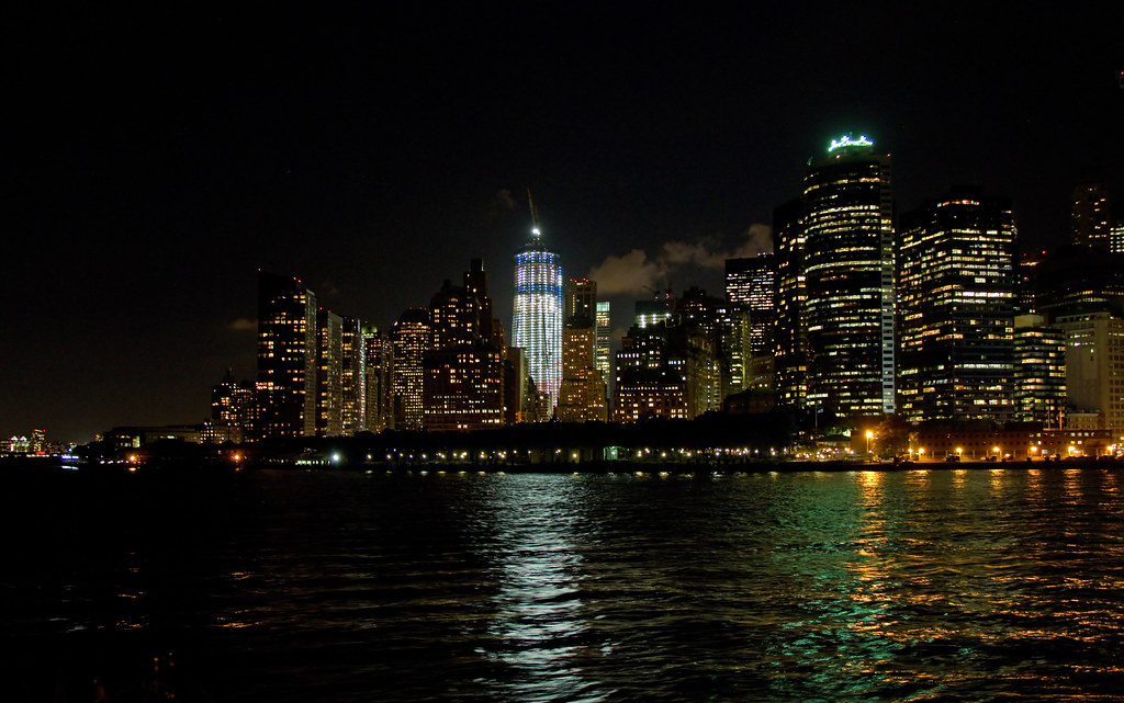 Manhattan From The Staten Island Ferry At Night 3a Flickr