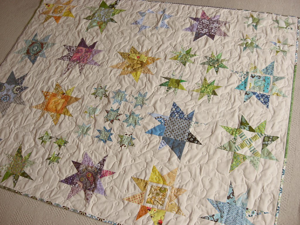 Wonky Star Quilt Lovely Blocks Were Made By The Bee Addict Flickr