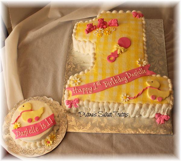 Danielle S First Birthday Cake Number 1 Birthday Cake