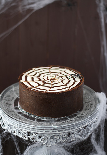 Tarta de queso Philadelphia y chocolate para Halloween | by SandeeA Cocina
