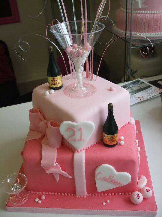 Champagne Glass Shaped Cake