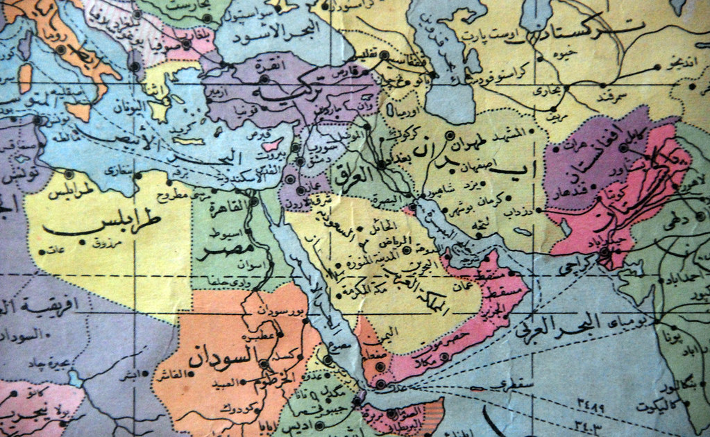 Arabic world map Flickr