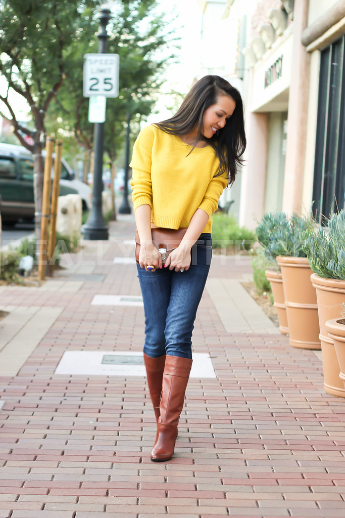 Yellow Skinny Jeans Womens