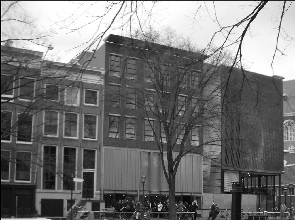 Anne Frank House Black And White Photo Of The Anne Frank