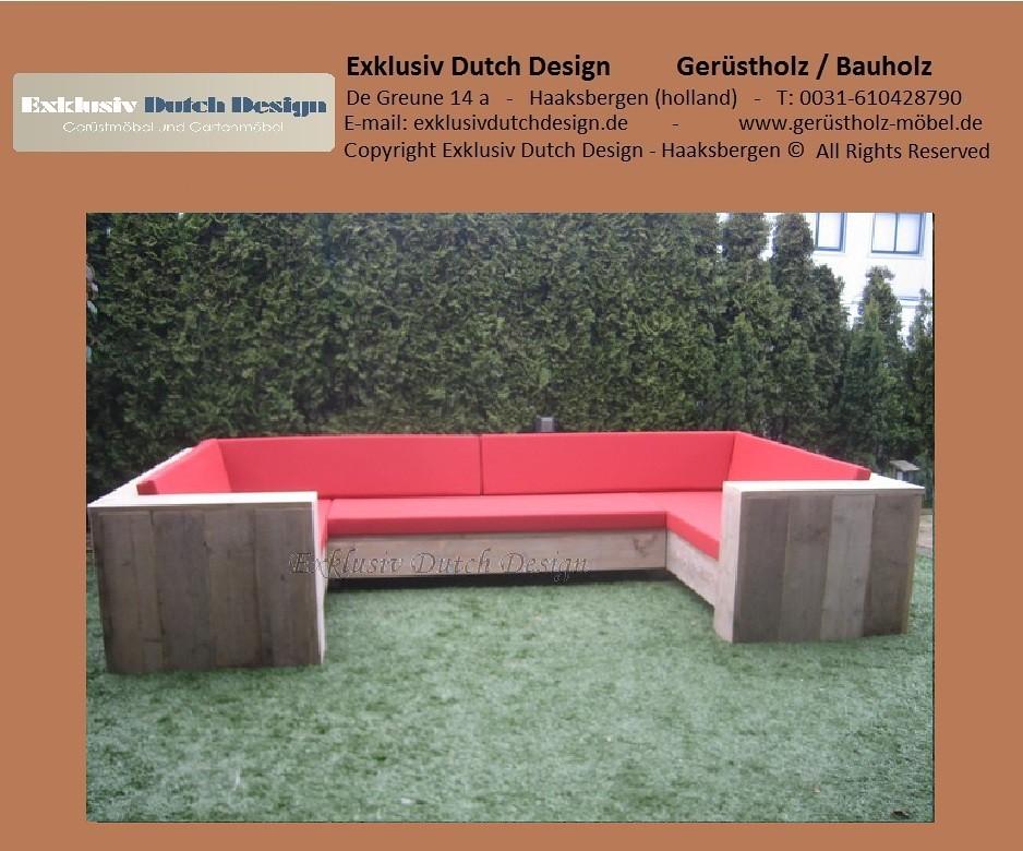 bauholz lounge bank u. Black Bedroom Furniture Sets. Home Design Ideas
