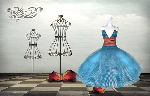 *Pois in Paris* Dress Blue | by . Nevery Lorakeet *LpD* .