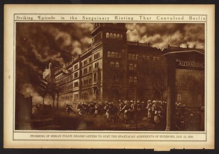 Striking Episode in the Sanguinary Rioting that Convulsed Berlin (LOC) | by The Library of Congress