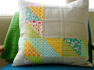 the pillow I made for Pillow Talk Swap 5 | by Erin - TwoMoreSeconds