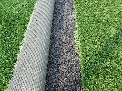 Rubber Shockpad under artificial grass | by Soft Surfaces Ltd