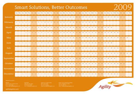 Logistics Calendar Design : Agility logistics calendar another creative design by