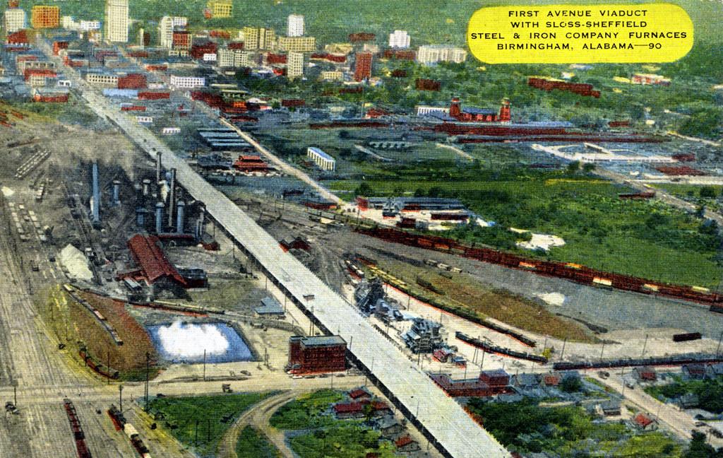 Vintage Postcard of Sloss Furnace, Birmingham, Alabama | Flickr