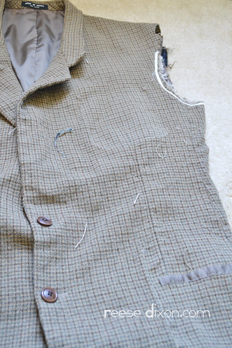 Tweed Blazer Step 2 | by reesedixon