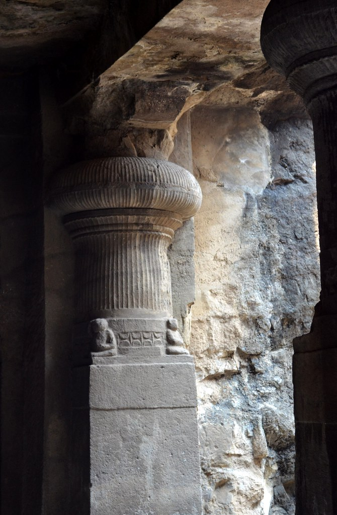 Carved from stone carvings in the elephant caves near