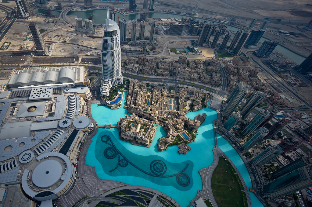 View from the 124th floor of the burj khalifa dubai flickr for Burj al khalifa how many floors