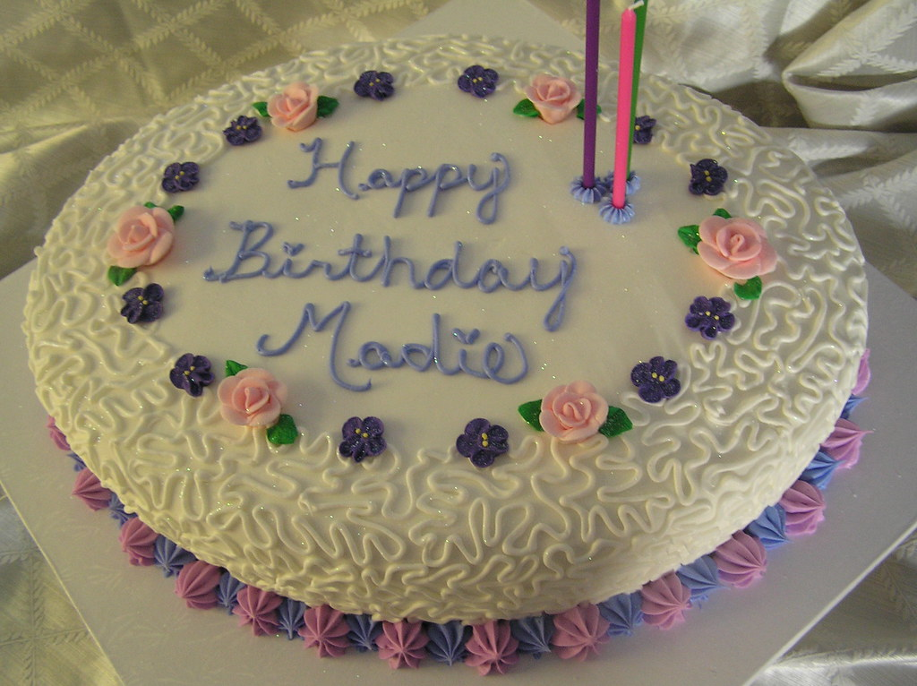 Birthday Cake Images For Aunt : Aunt Madie s 96th Birthday Cake Oval shaped french ...