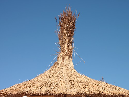 Thatched-Umbrella-on-Beach__45713 | by Public Domain Photos