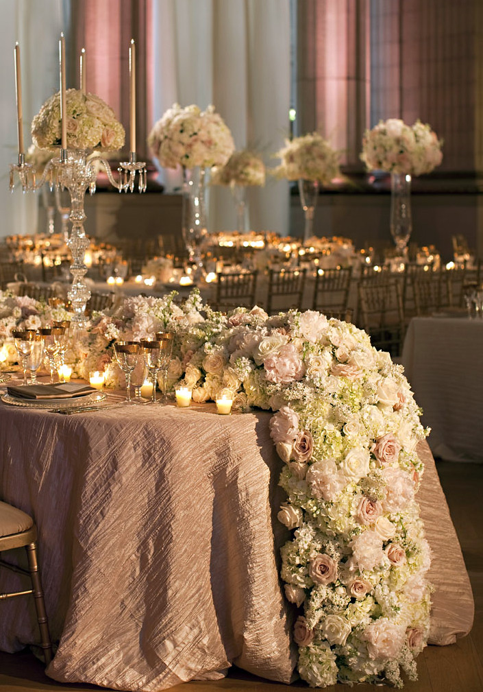 wedding flower candelabras