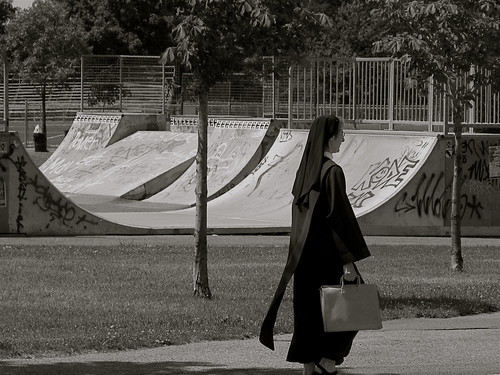 Skating Nun    [Explored] | by Alex L'aventurier,