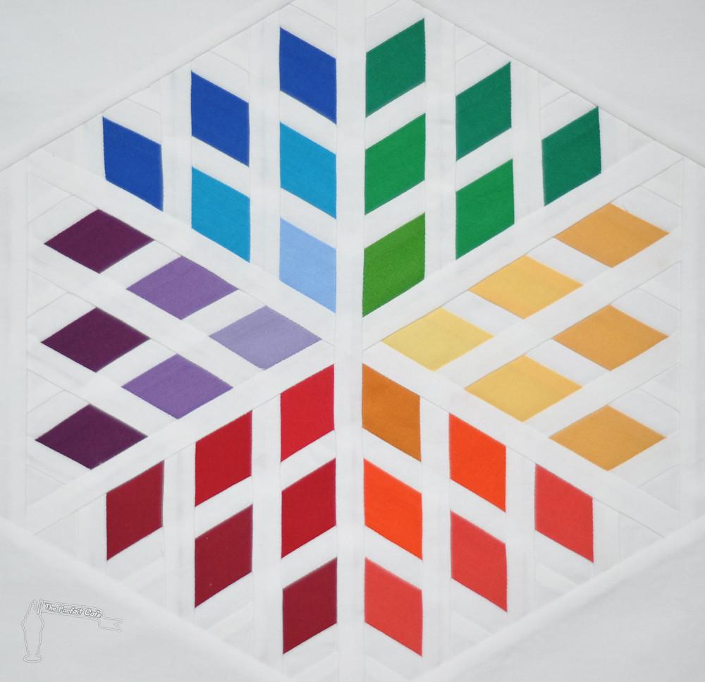 3x6 Diamond Blossom Quilt Block Rainbow Rainbow Blog