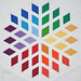 3x6 Diamond Blossom Quilt Block Rainbow