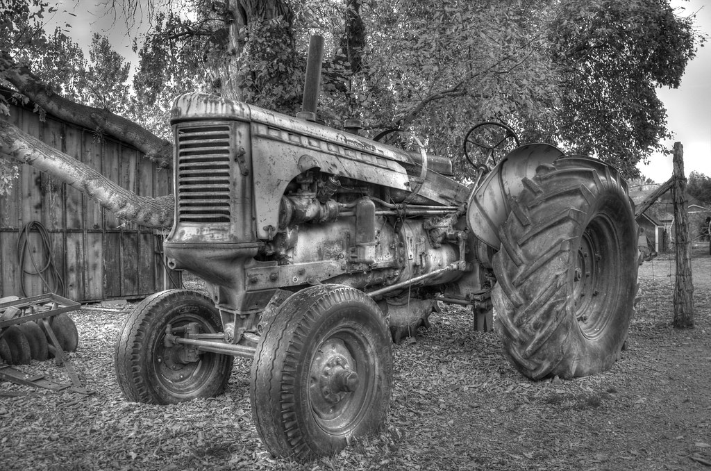 Old Tractor | Decided to try a Black and White HDR. This ...