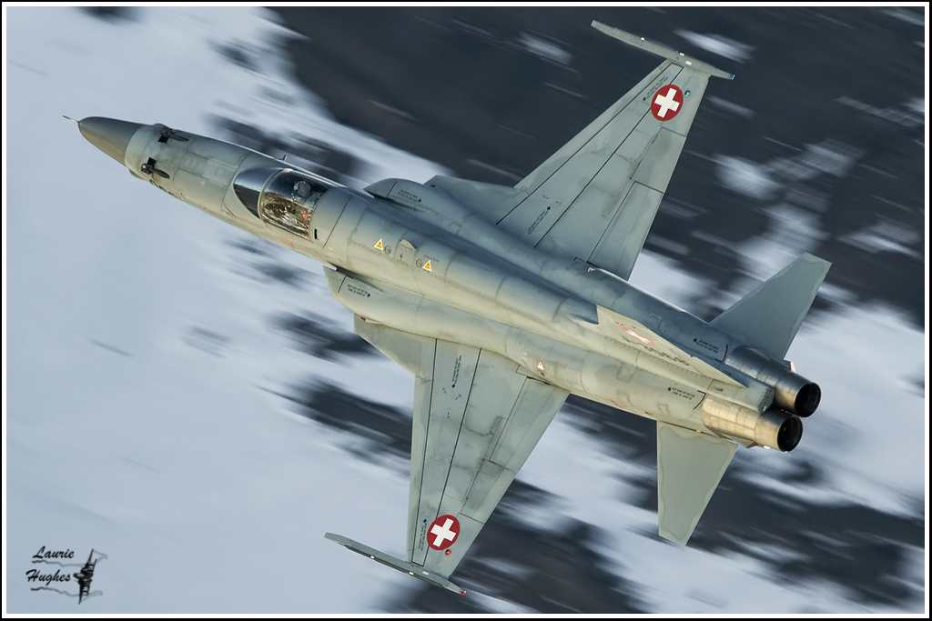 Swiss Air Force F5 Tiger in the Alps | Laurie Hughes