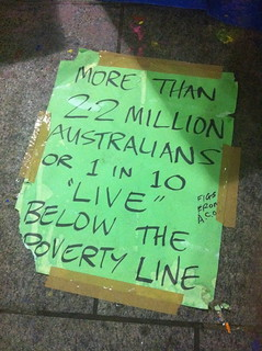 Occupy Sydney - 1 in 10 Australians in poverty | by timlonghurst