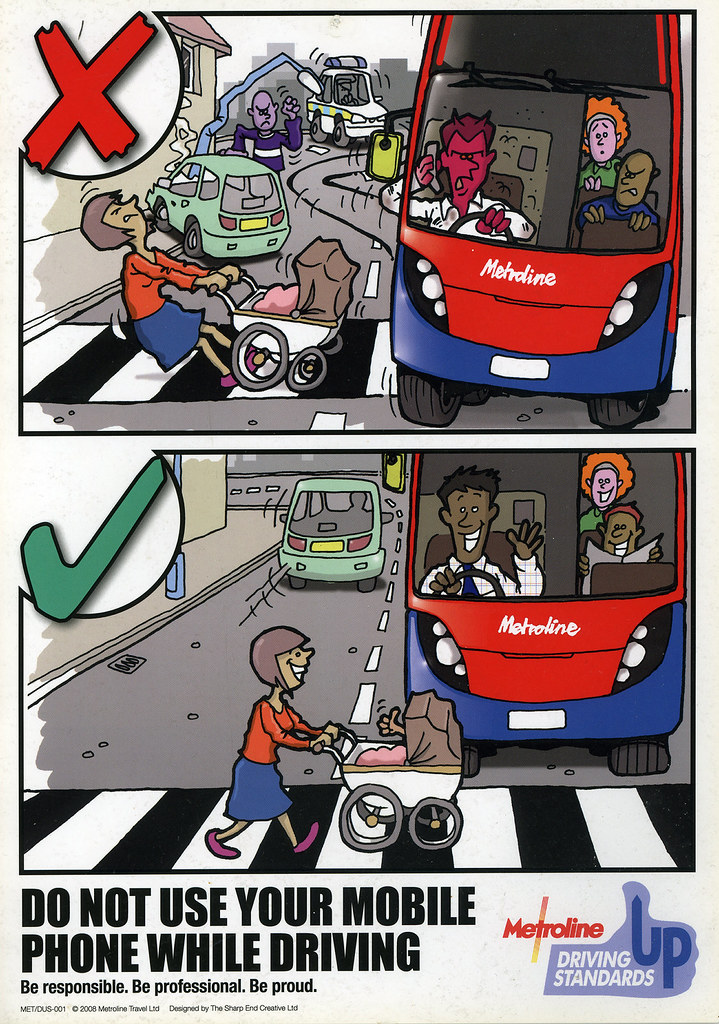 Metroline - Do Not Use Your Mobile Phone While Driving