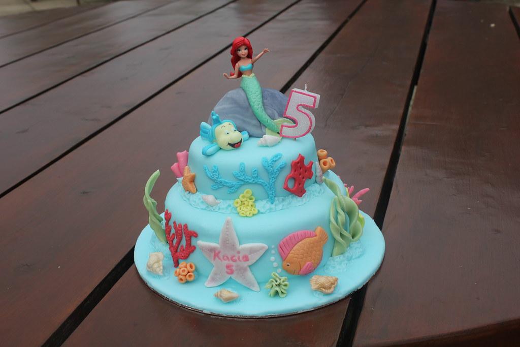 Ariel The Little Mermaid 5th Birthday Cake Ms Mummy Bb Flickr