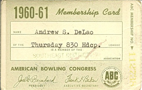 American Bowling Congress Card