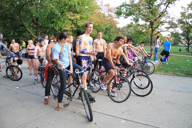 University of Vermonts Naked Bike Ride