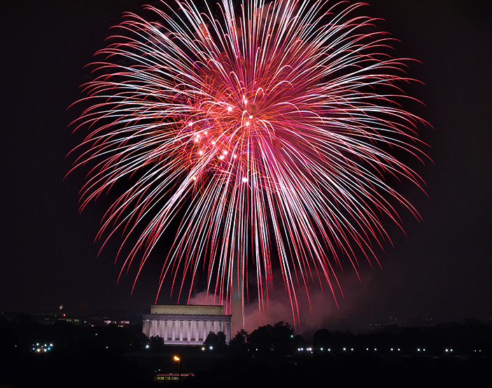 Washington Dc July 4th Fireworks Over National Mall Flickr