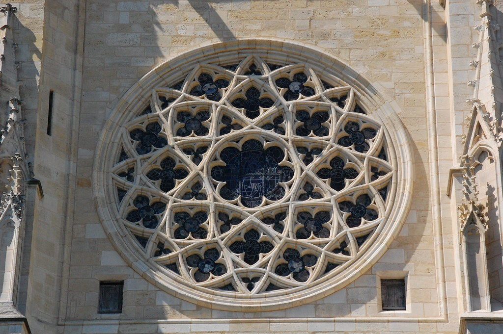 Jimwhiteheaducsc Gothic Rose Window Bordeaux Cathedral