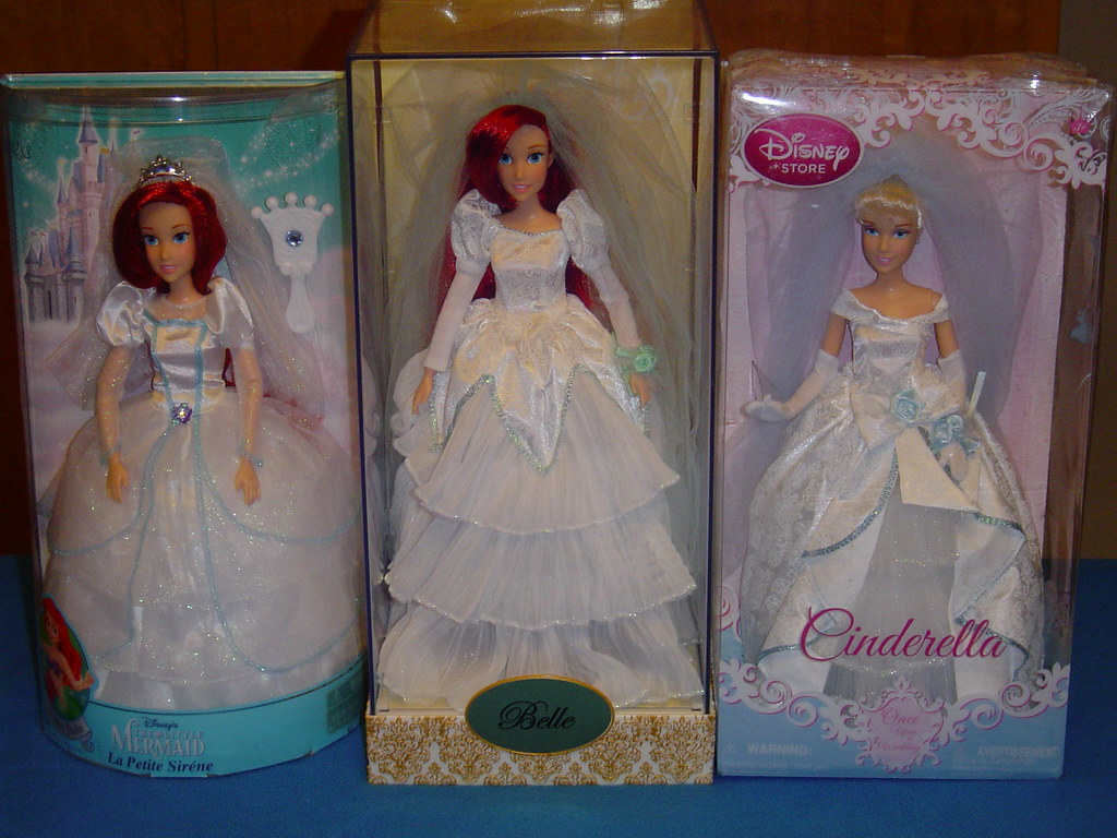 Disney Once Upon A Wedding Cinderella And Ariel Dolls And