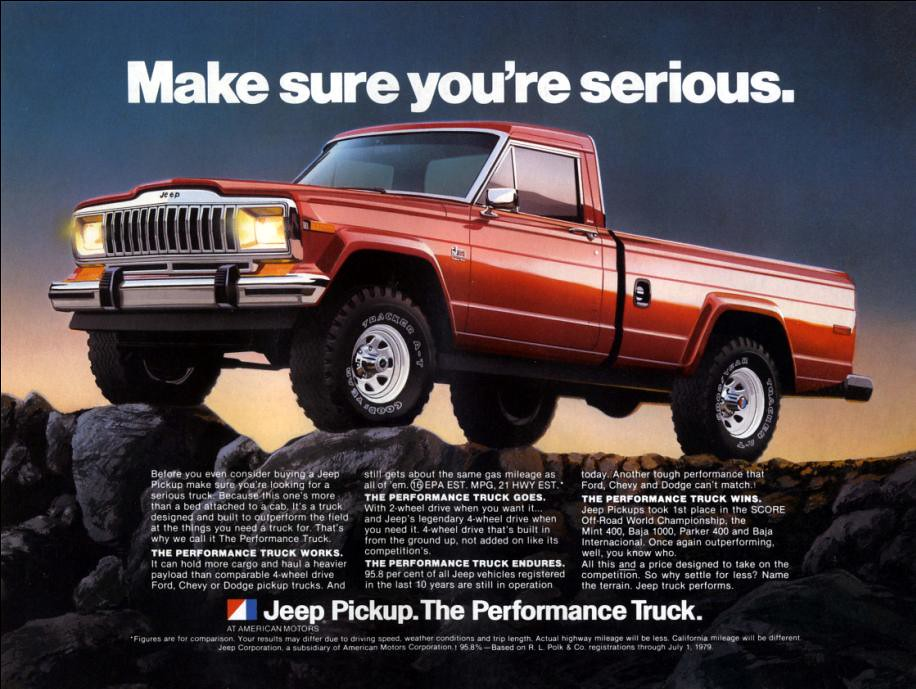 Jeep Truck Advertisement | Thought for the day: Before you ...