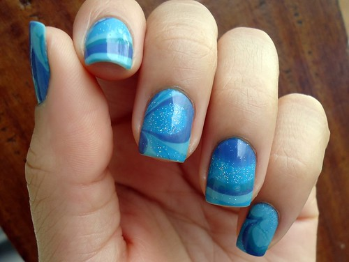 Gincana Nails Ink - Marble Nails | by Maria Tereza Griffo
